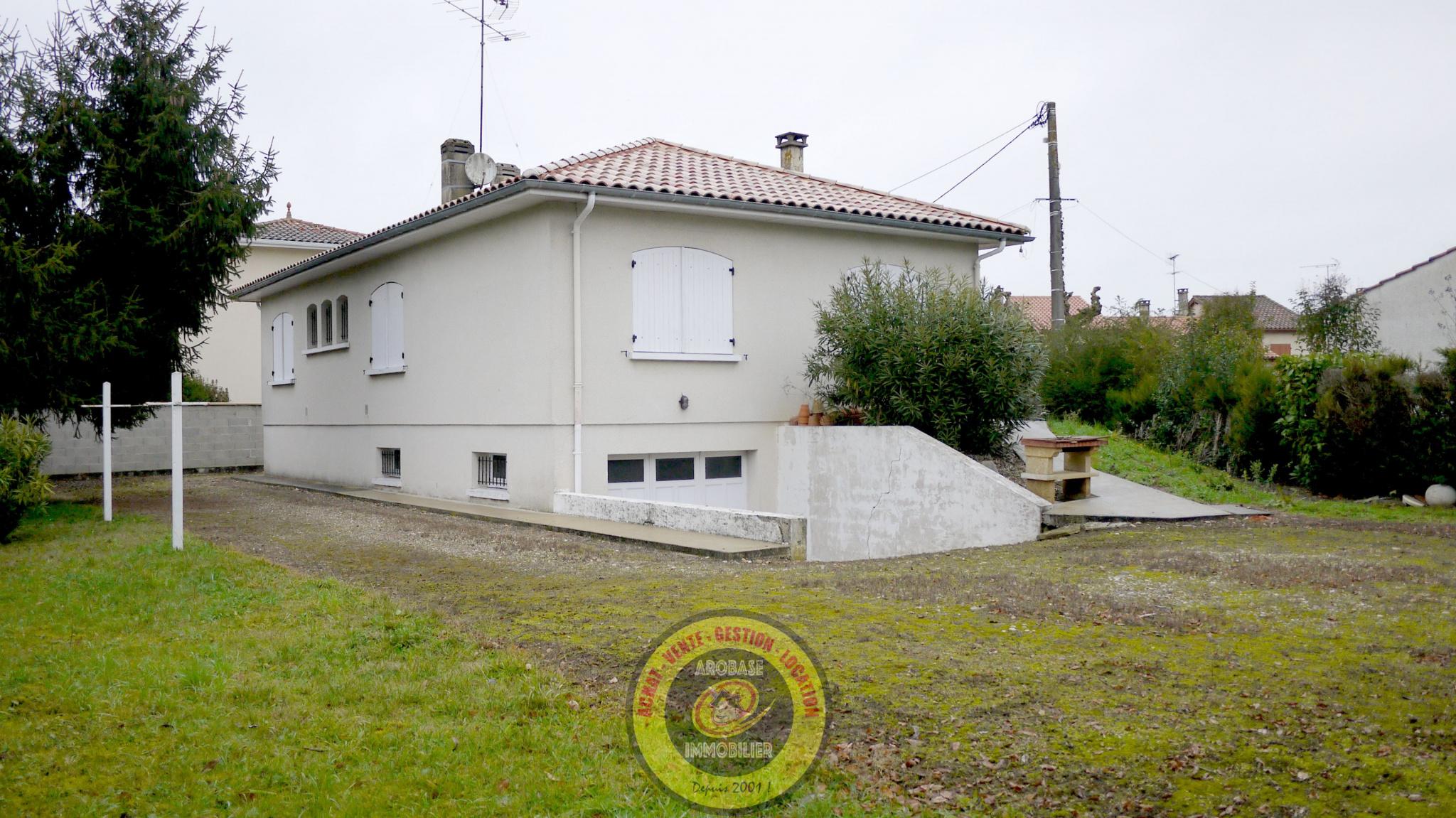vente maison de plain pied sur sous-sol semi enterré  Arobase